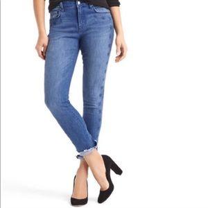 Gap Best Girlfriend Star Raw Hem Stretch Jeans
